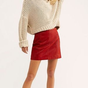 Free People Red Skirt